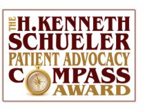 logo: The Kenneth Schueler Patient Advocacy Compass Award